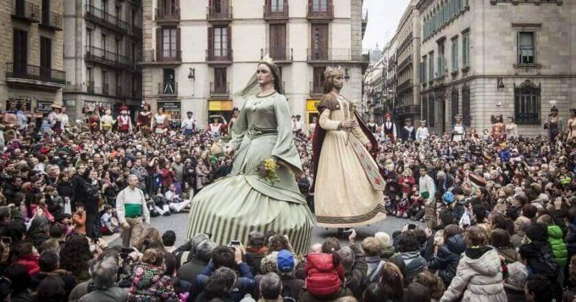 festivités Santa Eulalia à Barcelone