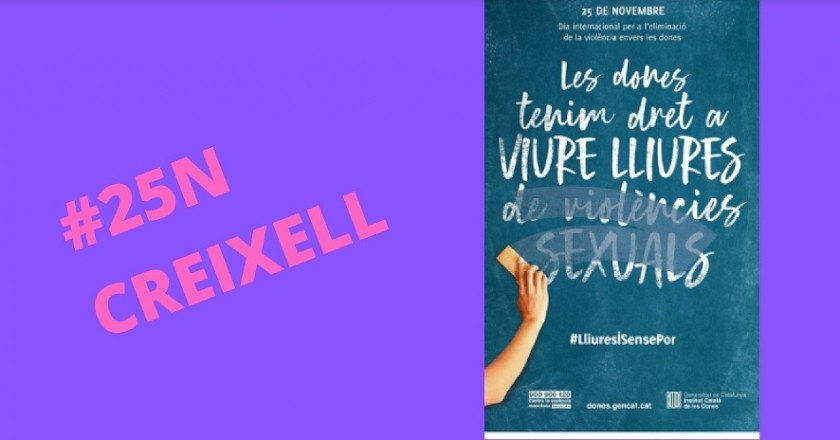 Day for the elimination of violence against women in Creixell
