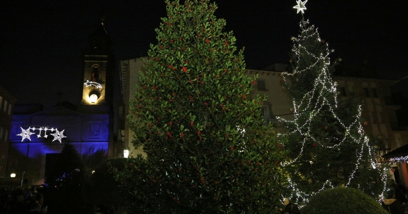 Tree lighting and Christmas lights in Sant Hilari Sacalm