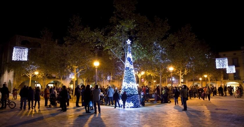 Allumer les lumières de Noël à Banyoles