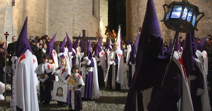 Manaies i Processó Sant Enterrament a Girona