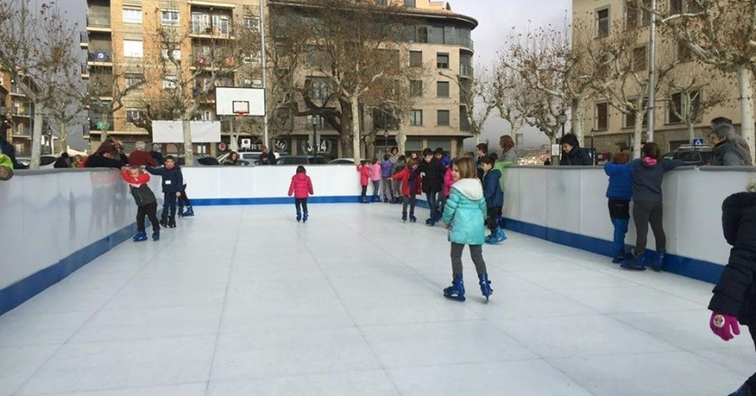 Patinoire synthétique à Solsona