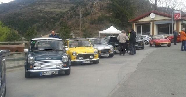 Trobada de cotxes clàssics a Ribes de Freser