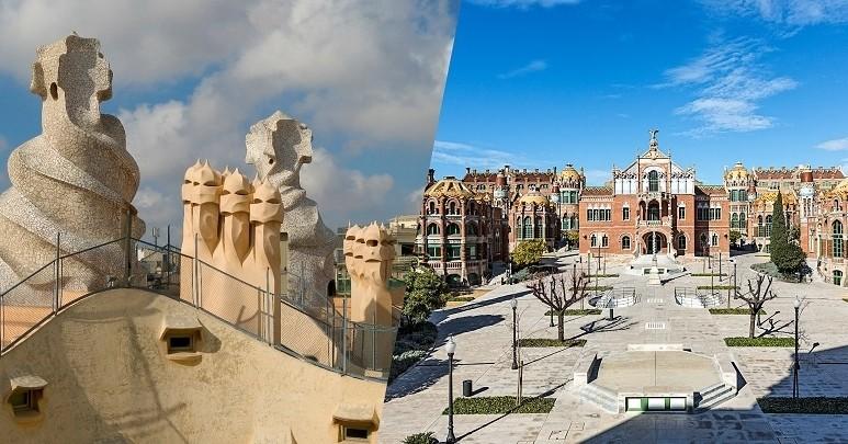 Visita combinada a La Pedrera i al Recinte Modernista de Sant Pau