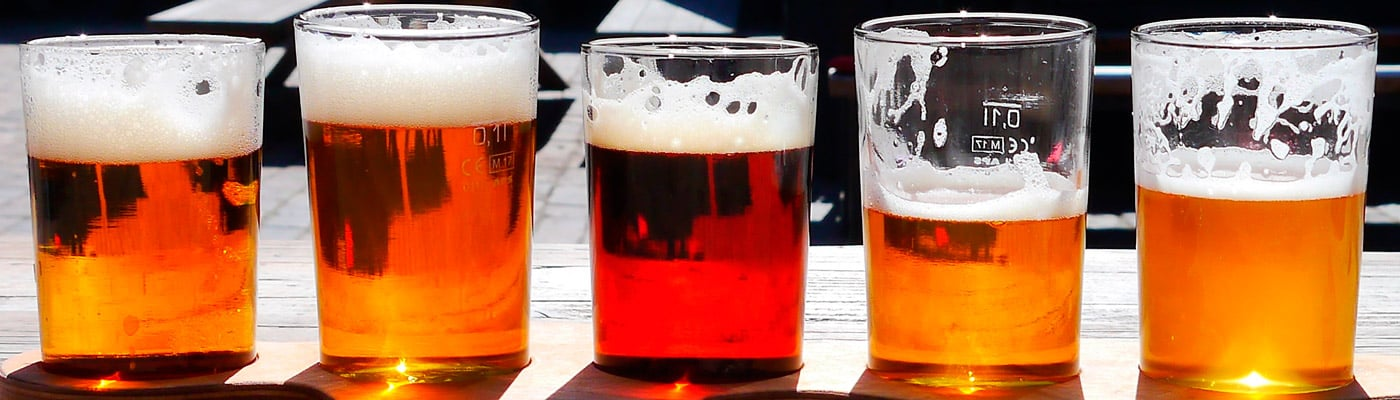 Bières artisanales dégustés