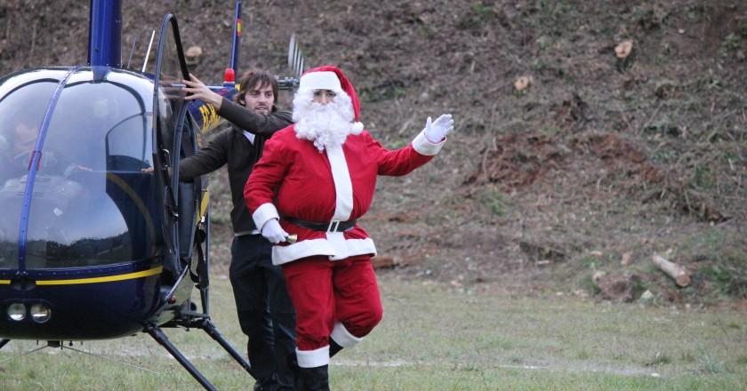 Arribada del Pare Noel en Helicòpter