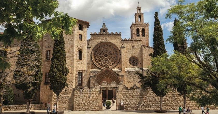 The Sant Cugat Monastery, the most powerful in the county of Barcelona
