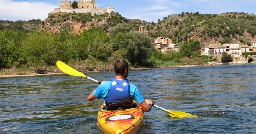 Kayaking down the Ebro River