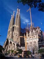 La Sagrada Familia (Gaudi's Modernist route in Barcelona)