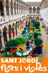 Feast of roses in Palafrugell by Sant Jordi