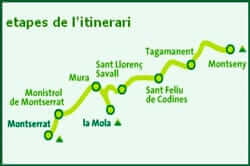 The route of the 3 mountains (itinerary route three hills)