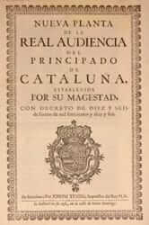 After the Nueva Planta decrees (decree novaplanta 1714)