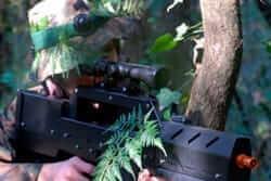 Ruta de parques de aventura (Laser Combat A Bosque Vertical)