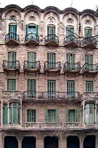 The charm of the facades of Barcelona (Casa Antonia Bures facade)
