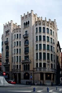 The charm of the facades of Barcelona (Casal De La Previsió Pension for old age)