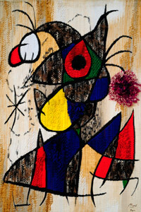 Route by Mont-Roig del Camp (Joan Miro Lizard Gold Feathers)