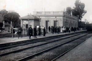 150 años del ferrocarril de Tarragona en Martorell (Estacio Sant Feliu De Llobregat)
