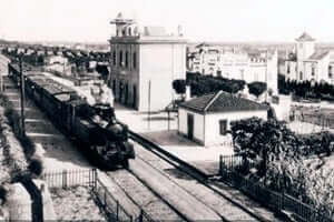 150 years of the railway Tarragona in Martorell (Estacio De San Juan Espi)