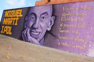 Ruta de Miquel Martí i Pol (Grafiti Miquel Marti I Pol A Roda De Ter)