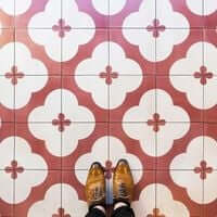 Barcelone,?? mosaïque de carrelage (Barcelone Mosaic Café Tenorio)
