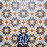 Barcelone,?? mosaïque de carrelage (Mosaïques Barcelone Casa Amatller 2)