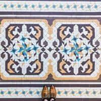 Barcelone,?? mosaïque de carrelage (Mosaïques Barcelone Casa Batllo)