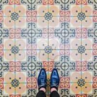 Barcelone,?? mosaïque de carrelage (Mosaïques Barcelone Casa Calico)