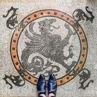 Barcelona, ?? carreaux de mosaïque (Tuiles Barcelona House Thomas 1)