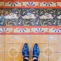 Barcelona, de mosaico en mosaico (Mosaicos Barcelona Circulo Del Liceo)