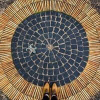 Barcelone,?? mosaïque de carrelage (Mosaïques Gardens Barcelone Mirador del Alcalde Montjuic)