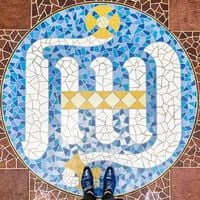 Barcelone,?? mosaïque de carrelage (Mosaïques Barcelone La Sagrada Familia)