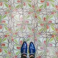 Barcelona, ?? mosaic tiling (Barcelona Mosaic Stationery Villena)
