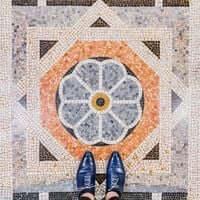 Barcelone,?? mosaïque de carrelage (Barcelona Mosaïques Parroquia De San patient)