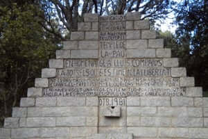 The exile in the Jonquera, the route of the republicans towards France (Monument To Lluis Companys Coll Manrella)