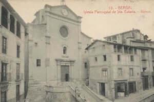 Berga durante la Guerra Civil (Placa San Pedro Berga Guerra Civil)