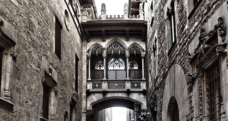 Charming corners of Barcelona