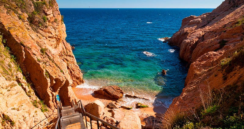 Coves and beaches of Sant Feliu de Guixols
