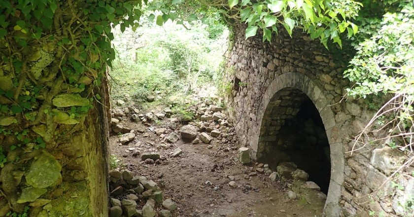 Route through Santa María de Sauva Negra in Balenyà