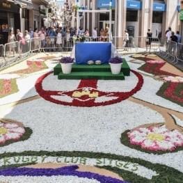 Concours de corpus et tapis de fleurs à Sitges et Vilanova…