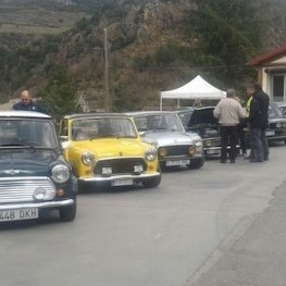 Meeting of classic cars in Ribes de Freser