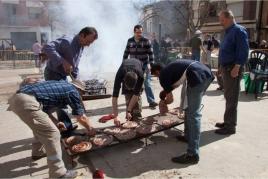 Festa de la matança del porc a Montgai