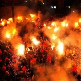 Fire festivities in Catalonia