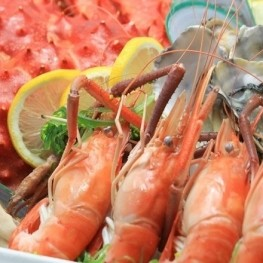 Travel with the palate! Try the seafood