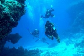 We do scuba diving in Catalonia