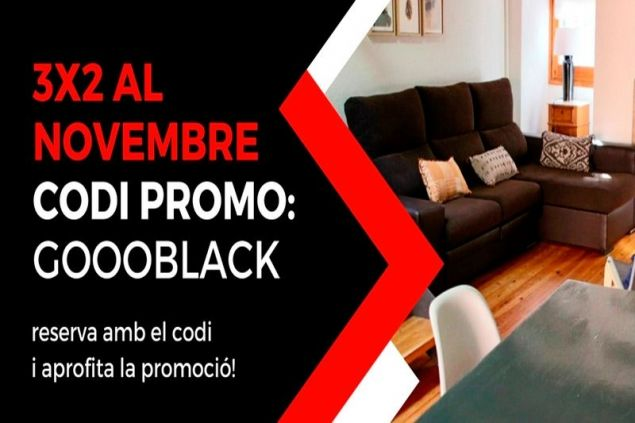 Black Friday 3x2! Paga 2 nits i reserva'n 3!