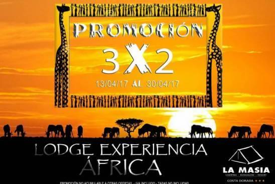 Oferta experiencia África: 3X2