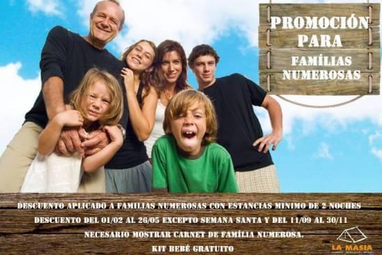 Promoció families nombroses