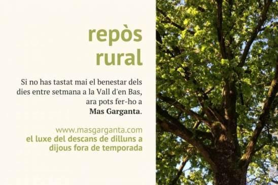 Relax rural entre setmana.Donde mejor que en Mas Garganta?