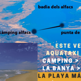 Servei Aquataxi a la platja de la Punta de la Banya