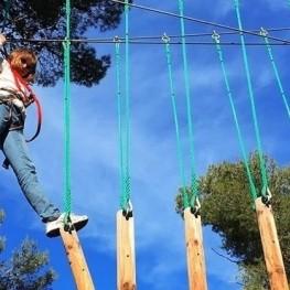 Anniversaire de Tirolinas à Bosc Aventura Salou